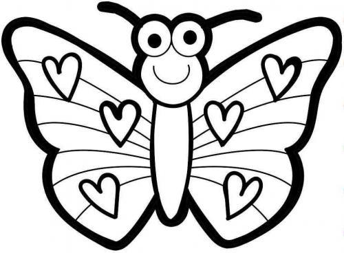 disegnare farfalle per bambini