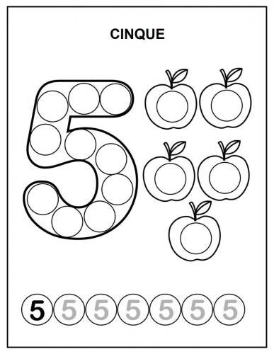 disegnare numeri 5