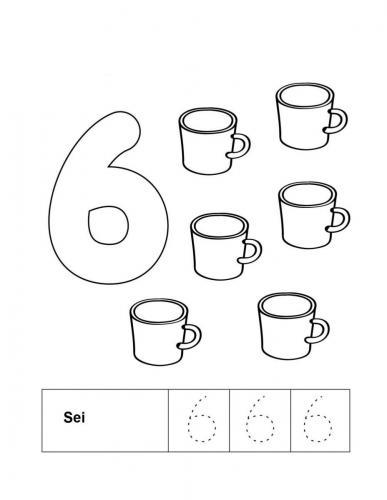 disegnare numeri per bambini 6