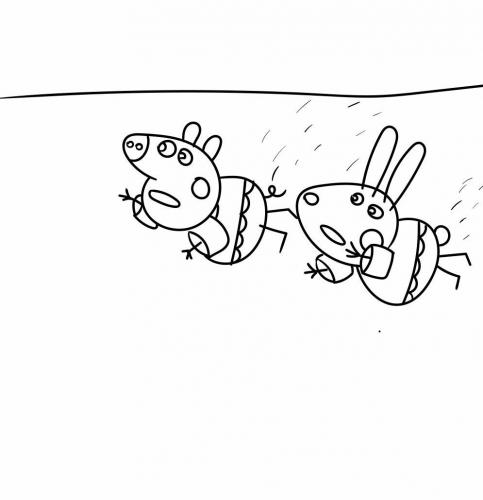 disegnare peppa pig