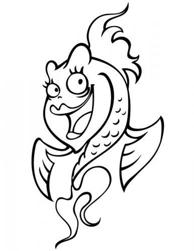 pesce femmina che ride