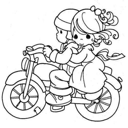 disegnare una moto