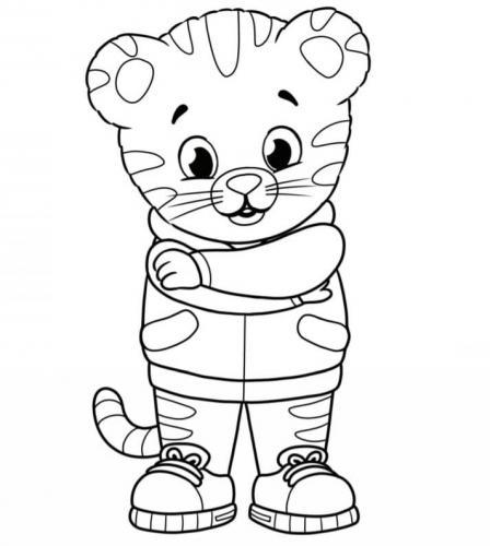 disegni a matita tigre Daniel Tiger