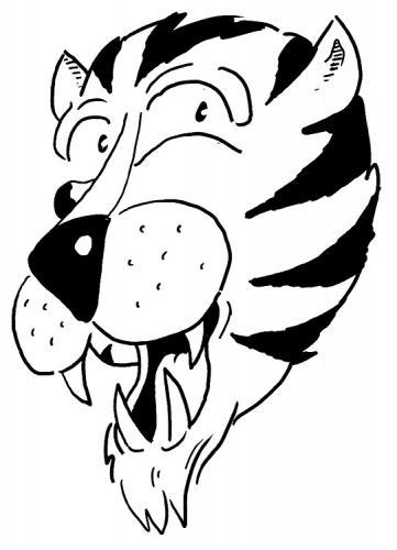 disegni a matite della tigre