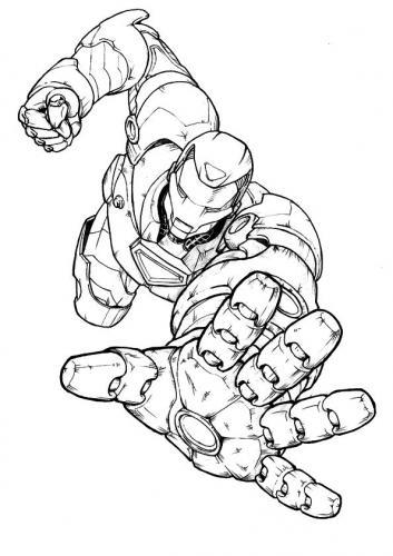 disegni a matite Iron Man