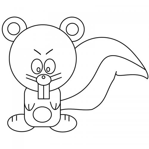 disegni a matite scoiattolo