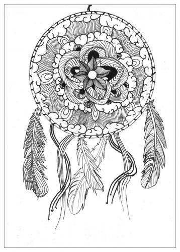 disegni acchiappasogni con fiore