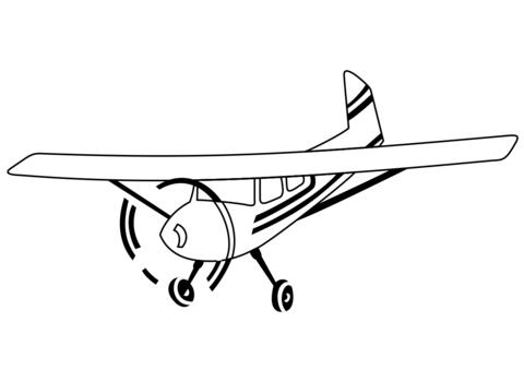 disegni aerei da colorare