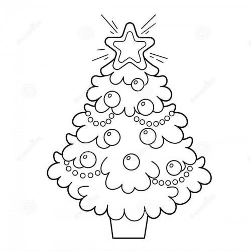 disegni albero di natale