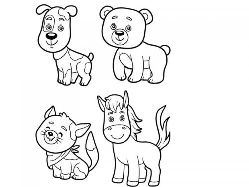 disegni animali realistici
