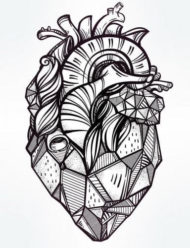 disegno artistico del cuore
