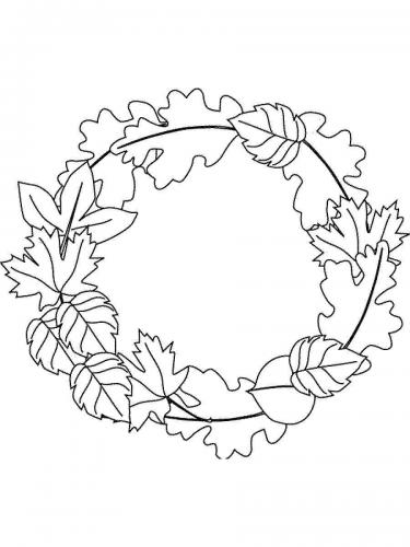 Corona foglie