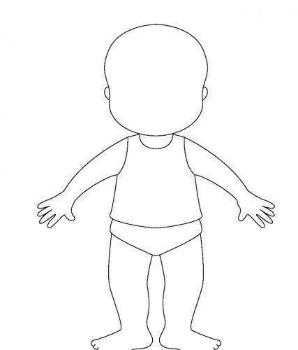 disegno stilizzato bambino