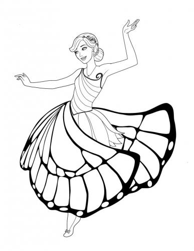 disegni barbie da stampare