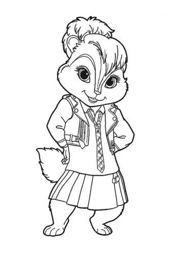 disegni bellissimi di scoiattoli Alvin Superstar