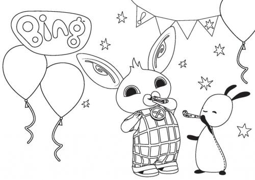 disegni bing da colorare