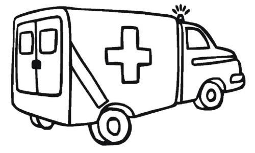 disegni camion da colorare ambulanza