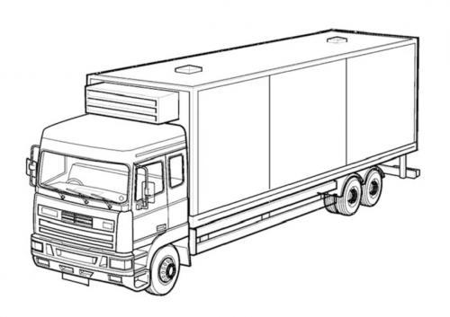 disegni camion da colorare