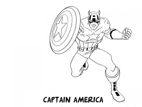 disegni capitan america