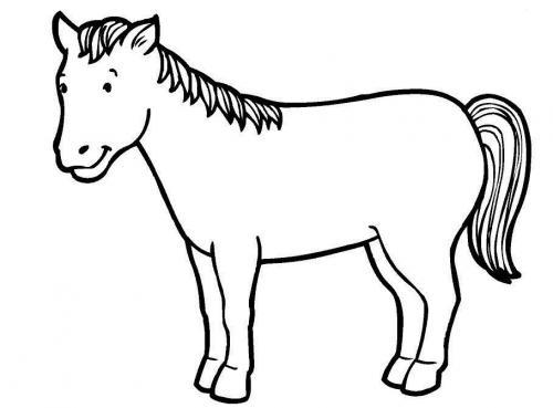 disegni cavalli per bambini