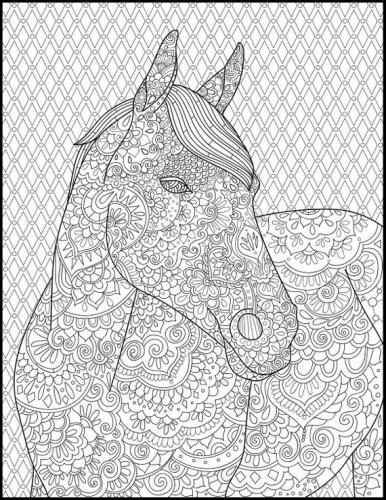 disegni cavalli stilizzati da colorare