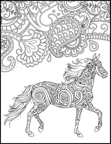 disegni cavalli stilizzati da stampare