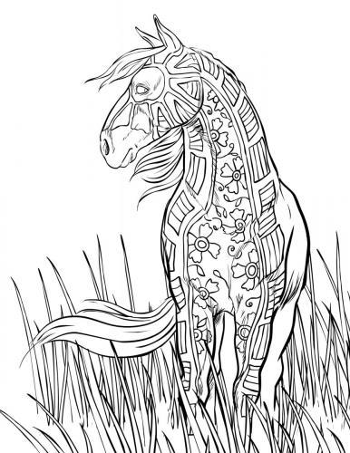disegni cavalli stilizzati gratis
