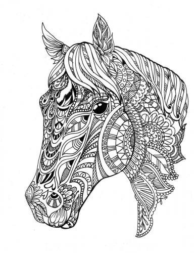 disegni cavalli stilizzati per adulti