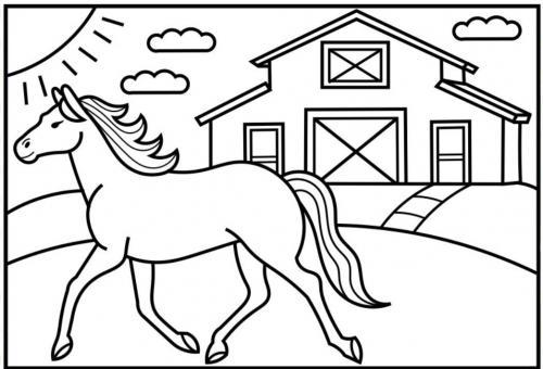 disegni cavallo