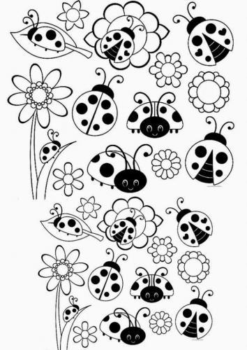 disegni coccinelle simpatiche
