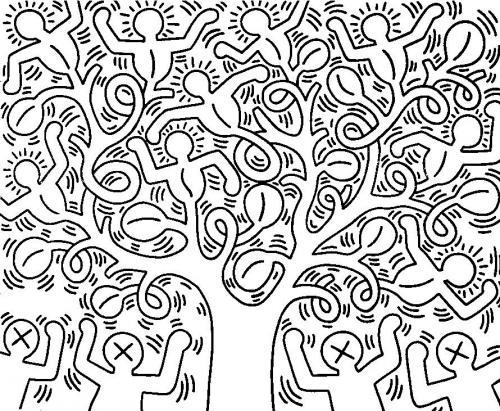 disegni da colorare albero