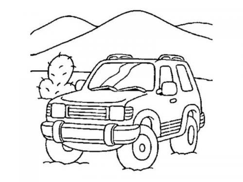 disegni colorare auto