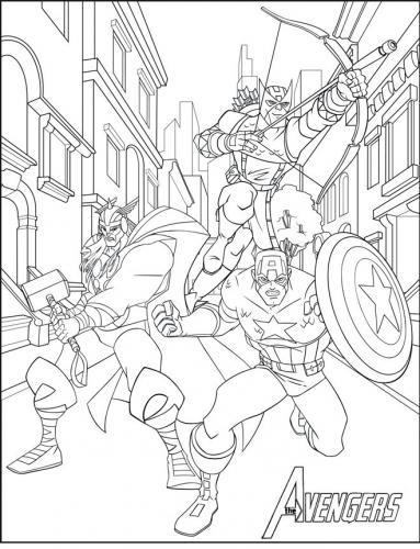 disegni avengers