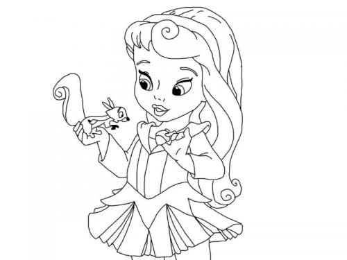 Aurora da piccola