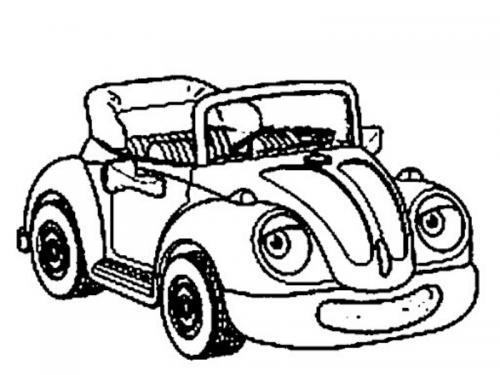 disegni colorare macchine
