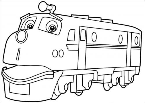 disegni da colorare treni