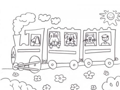 disegni da colorare trenino