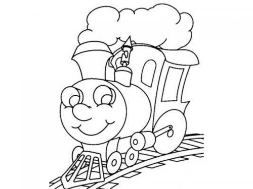 disegni da colorare treno