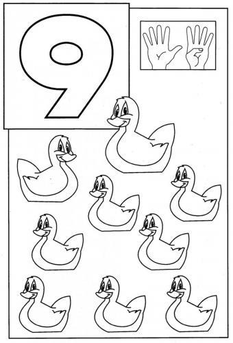 disegni con numeri 9