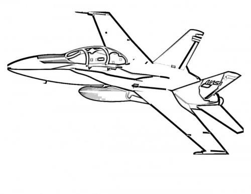 disegni da colorare aerei militari