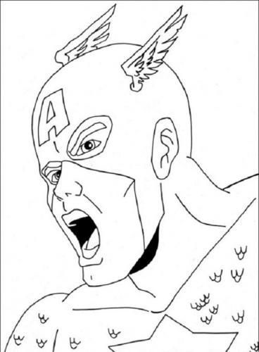 disegni da colorare Avengers Capitan America