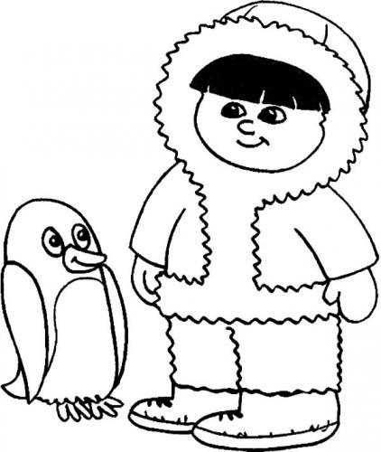bambino con pinguino