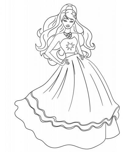 disegni da colorare barbie principessa