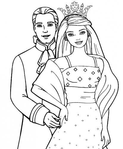 disegni da colorare barbie sposa