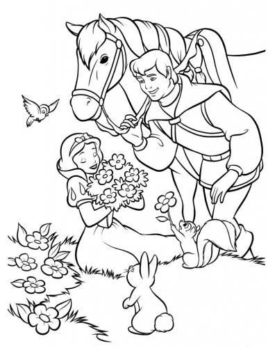 disegni da colorare di Biancaneve