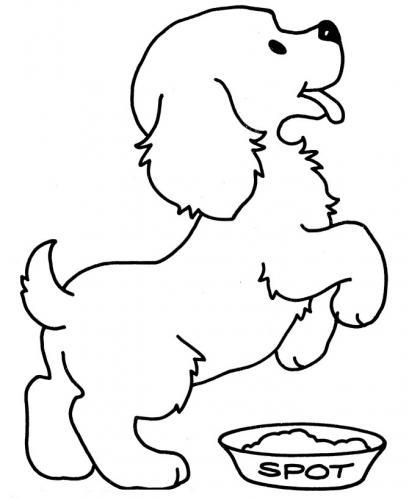 disegni da colorare cagnolini