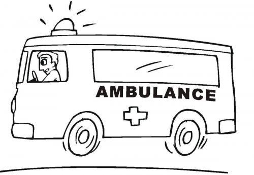 disegni da colorare camion ambulanza
