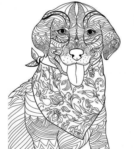 disegni da colorare cane stilizzato