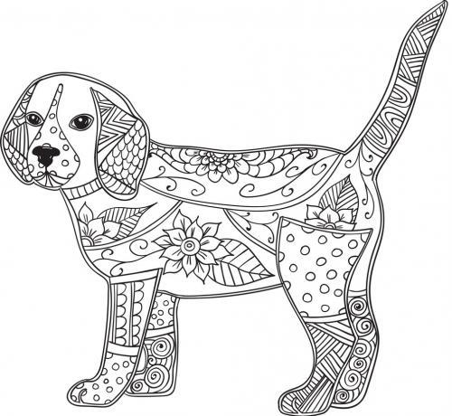 disegni da colorare cane