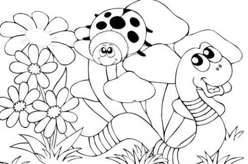 disegni da colorare coccinella per bambini
